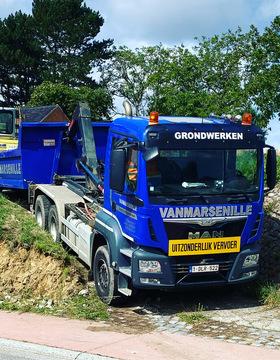 Grondwerken Vanmarsenille -  Container huren